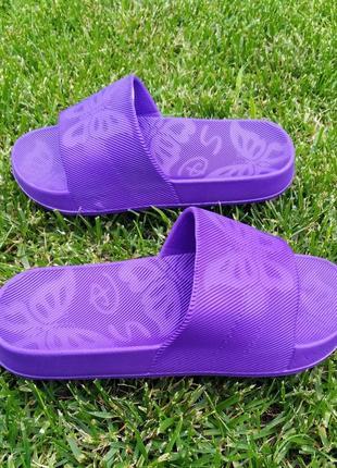 Шлёпки шлёпанцы шлепанцы женские шльопанці жіночі летние фиолетовые сланцы тапки