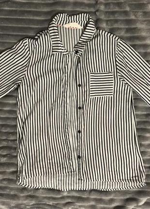 Новая рубашка в полоску h&m