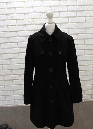 Пальто классика черный шерсть