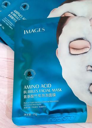 Пузырьковая маска на тканевой основе images bubbles amino acid