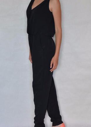 Чёрный комбинезон easy wear (чорний класичний комбінезон)