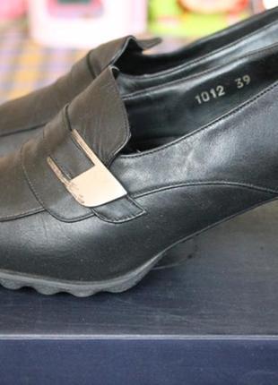 Sale! актуальные кожаные комфортные немецкие туфли-еврокачество-39размер