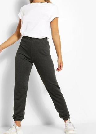 Спортивні штани, джогери темно сірого кольору, boohoo