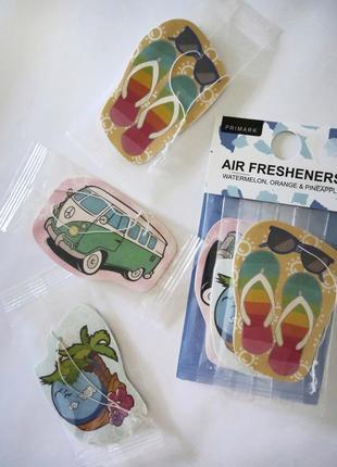 Набір з 3-х аромтизаторів primark/airfresher в машину/для дома