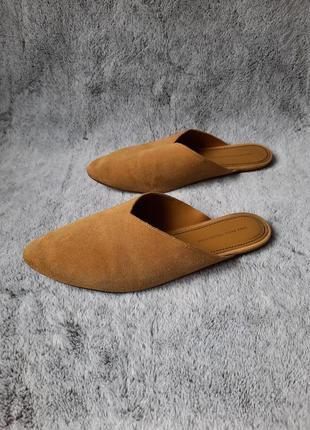 Стильные брендовые кожаные шлепанцы мюли размер 38