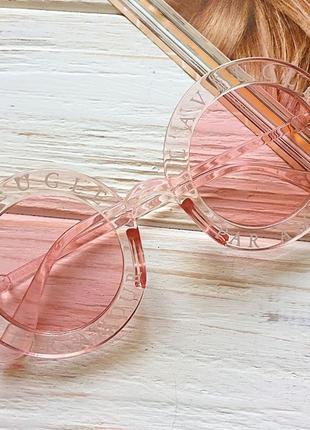 Окуляри сонцезахисні, очки солнцезащитные круглые, розовые очки