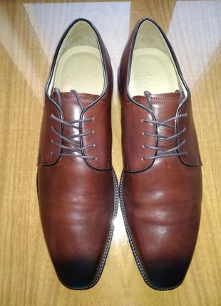 Туфли кожаные, ecco, оригинал.
