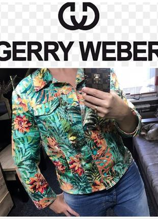 Gerry weber пиджак цветы оригинал цветочный принт летний