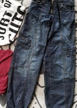 Модные джинсы с утяжкой снизу