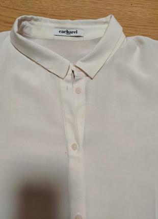Базовая блуза натуральный шелк cacharel paris2 фото