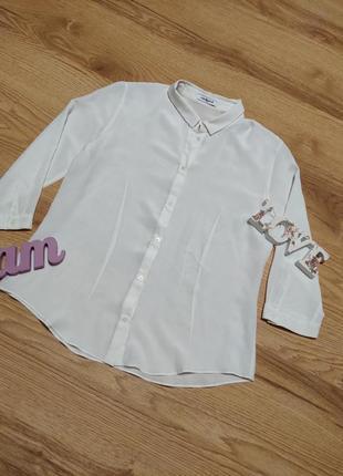 Базовая блуза натуральный шелк cacharel paris1 фото