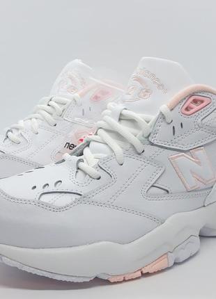 Шикарные кожаные белые кроссовки new balance 608 v1 оригинал6 фото