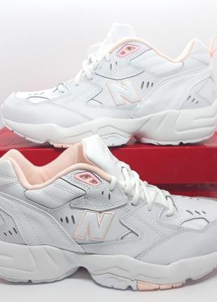 Шикарные кожаные белые кроссовки new balance 608 v1 оригинал3 фото