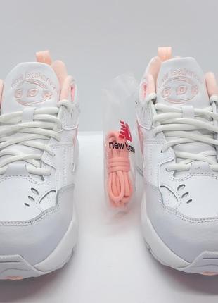 Шикарные кожаные белые кроссовки new balance 608 v1 оригинал2 фото