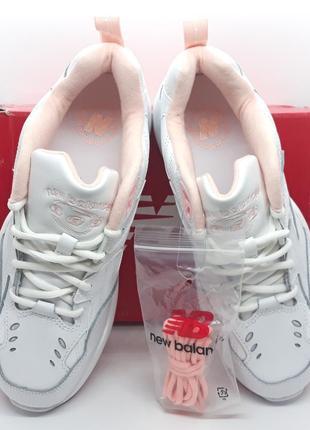 Шикарные кожаные белые кроссовки new balance 608 v1 оригинал7 фото