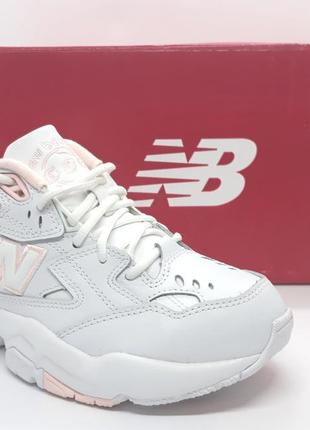 Шикарные кожаные белые кроссовки new balance 608 v1 оригинал