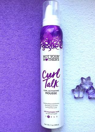 Мусс для волос not your mother's curl talk curl activating mousse