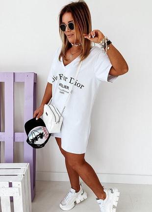 Стильные платья 42-46, платье мини, платье-футболка, плтаье-туника  (арт 100356)4 фото