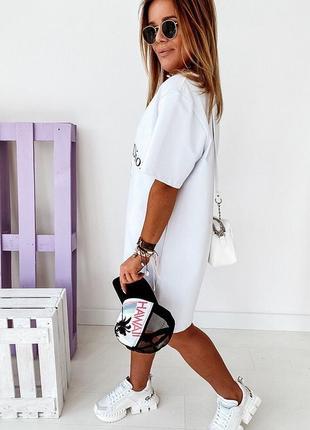 Стильные платья 42-46, платье мини, платье-футболка, плтаье-туника  (арт 100356)3 фото