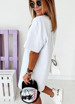 Стильные платья 42-46, платье мини, платье-футболка, плтаье-туника  (арт 100356)5 фото