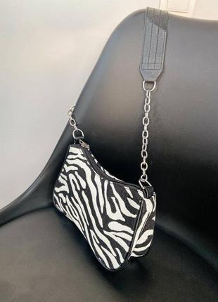 Сумка-мессенджер с принтом  зебры 🦓