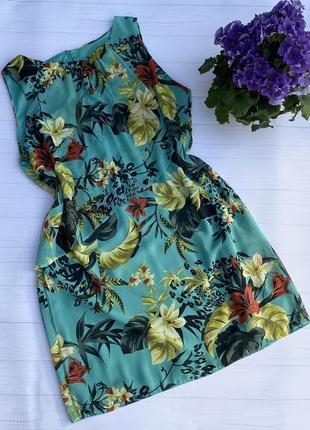 Платье морской волны в цветочный принт отdorothy perkins