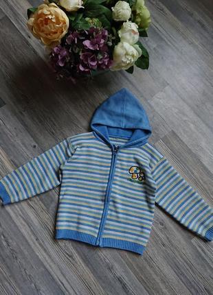 Кофта с капюшоном на молнии кофточка джемпер пуловер 2 -3 года