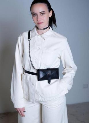 Поясная сумочка трансформер, сумочка для телефона 2 в 1.натуральная кожа