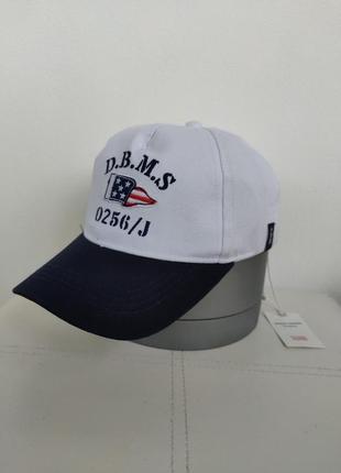 Белая кепка, бейсболка с надписью original marines, на 53 - 56 см