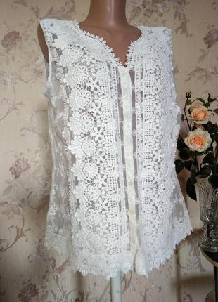Блузка ажурная кружевная