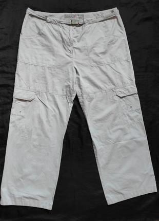 Светло-серый свободные  брюки в спортивном стиле