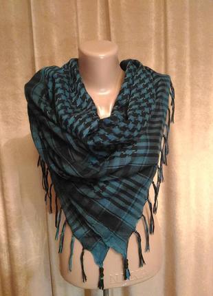 Арафатка шарф платок чёрно-синий, цвет морской волны