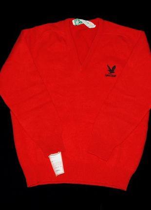 Свитер женский люкс яркий  красный шерсть pure 100% шерстяной1 фото