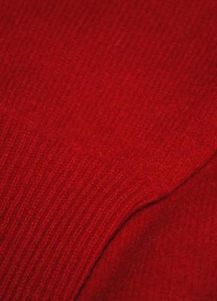 Свитер женский люкс яркий  красный шерсть pure 100% шерстяной5 фото