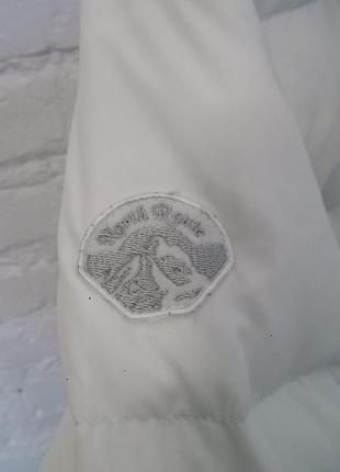 Белый пуховик north route зимняя куртка