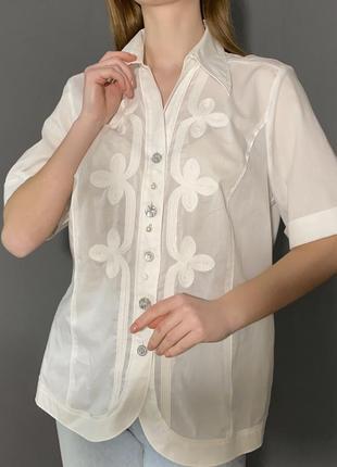 Новая блуза/рубашка винтажный стиль 100% хлопок