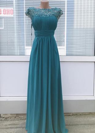 Вечернее нарядное платье в пол