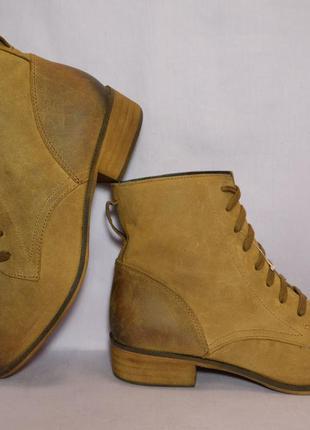 Сапожки на низком каблуке из натуральной кожи! весна-осень! 38 размер!