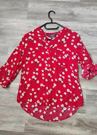 Primark 10 блуза вискоза в ромашки