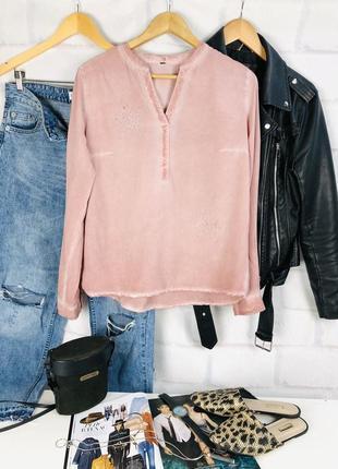 Рубашка- блуза розового цвета под варенку