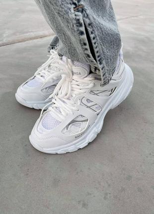 ❤ женские белые текстильные кроссовки  track white ❤