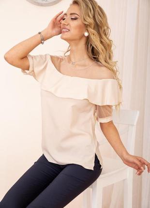 Шикарные блузы пастельных цветов беж - xs s m l