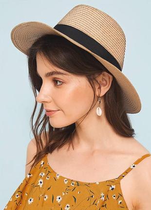 Шляпа соломенная женская в ковбойском стиле федора летняя от солнца ковбойка женская