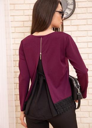 Эффектная кофта блуза для стильной леди m l xl