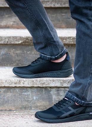 Кросівки чоловічі чорні текстильні (пр-4407-ч)