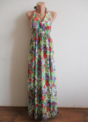 Натуральный хлопковый длинный макси сарафан в пол в цветочный принт dorothy perkins