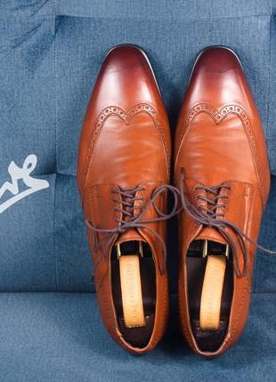Дерби greve, голландия 44-45 мужские кожаные туфли броги
