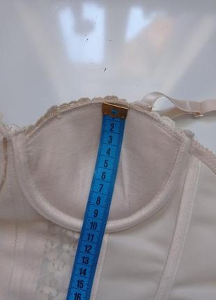 Бежевый телесный корсет бра с плотной чашкой,балконет4 фото