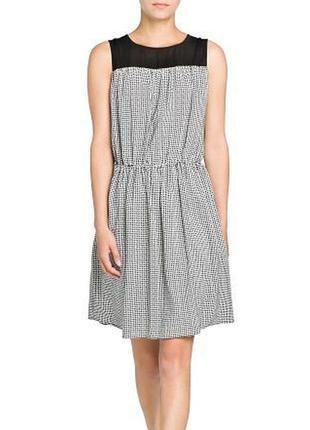 Женское платье, сарафан в клетку s, m mango оригинал