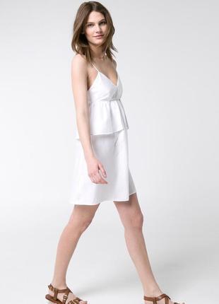 Женский летний белый сарафан, платье, бюстье на бретелях s-m mango оригинал